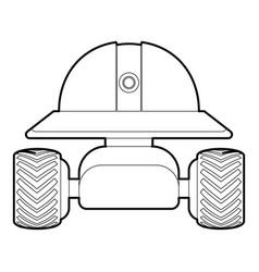 Smart robot icon outline vector