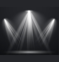 spotlight scene light effect spot projector ray vector image