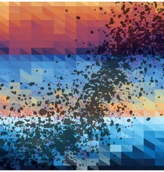 Spotted triangles colorful background vector