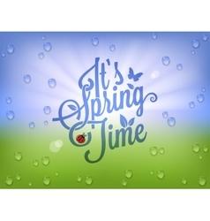 Spring Time Vintage Lettering Background vector image