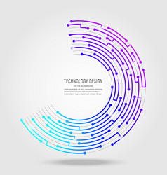 technology circuit board circle background vector image