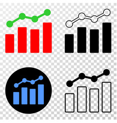 trend charts eps icon with contour version vector image