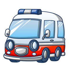 Trendy ambulance icon cartoon style vector