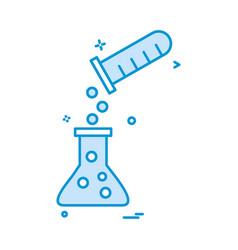 tube flask mix icon design vector image
