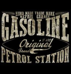 Vintage gasolineauthentic gas pump print vintage vector