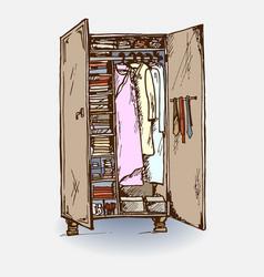 wardrobe closet vector image