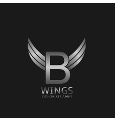 Wings B letter logo vector