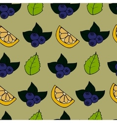 Cartoon seamless pattern with berry vector image vector image