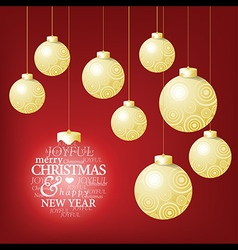 Christmas ball competition and a happy greeting vector image