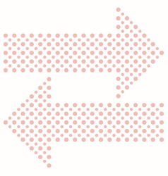 Fine dotted arrows vector