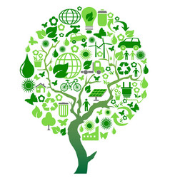 green environment eco tree vector image