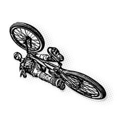 jumping BMX biker vector image