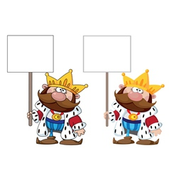 King with blank sign vector
