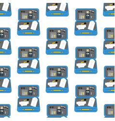 luggage travel pattern vector image vector image