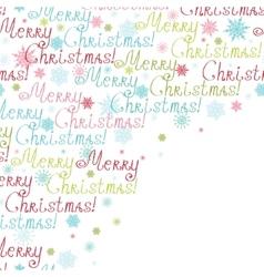 Merry christmas text frame corner pattern vector
