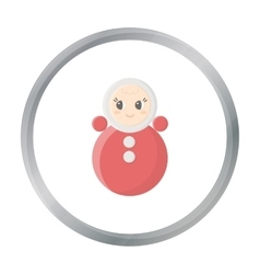 Roly Poly cartoon icon for web and vector image vector image