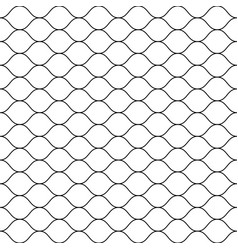 seamless pattern thin wavy lines mesh texture vector image vector image