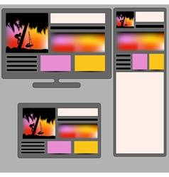 summer responsive web design vector image vector image
