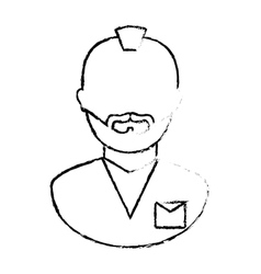 figure arrested man icon image vector image vector image