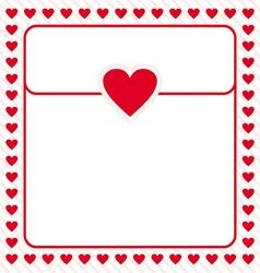 Frame border red heart design for valentine vector image vector image
