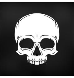 Human evil skull Jolly Roger logo template vector image