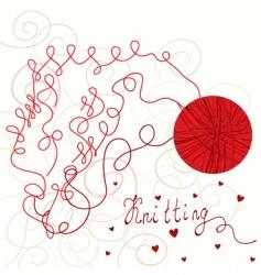 knitting card vector image
