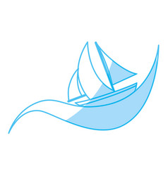 sailboat ship isolated vector image vector image