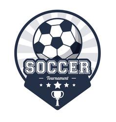 soccer sport tournament emblem image vector image
