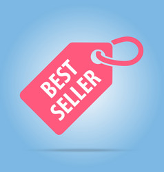 best seller tag red color vector image vector image