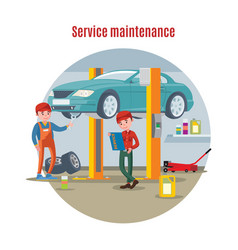 car maintenance service concept vector image vector image