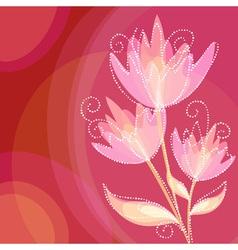 Elegant colorful flower invitation postcard vector image vector image