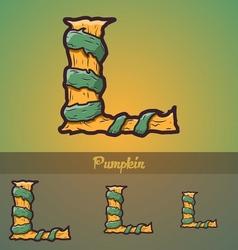 Halloween decorative alphabet - L letter vector image vector image
