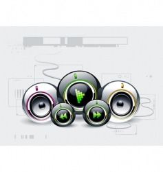high tech sound system vector image vector image