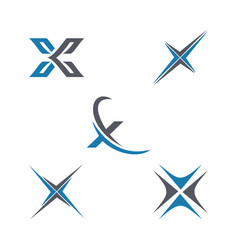 letter x business and logo vector image vector image