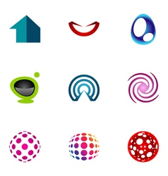 logo design elements set 49 vector image vector image