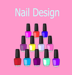 nail design vector image