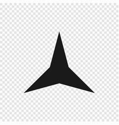 3 point classic star vector image