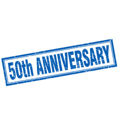 50th anniversary square stamp vector image