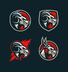 abstract goat concept design template vector image