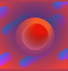abstract gradient background with circle shape vector image
