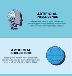 artifical intelligence design vector image