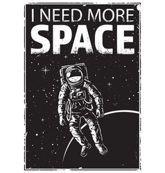 Astronaut at spacewalk vector
