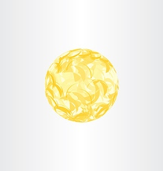 autumn yellow abstract globe circle background vector image