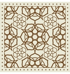 Beige scarf with geometric pattern design vector image
