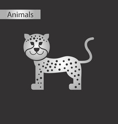 Black and white style icon leopard vector