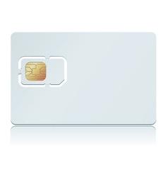 Blank sim card vector