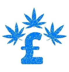 Cannabis Pound Business Grainy Texture Icon vector