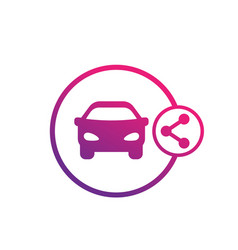 Carsharing service icon on white vector