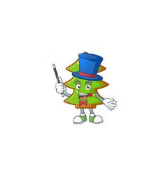 Cartoon character trees cookies magician style vector