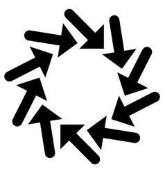 Circular radial arrow for centrifuge twist cycle vector